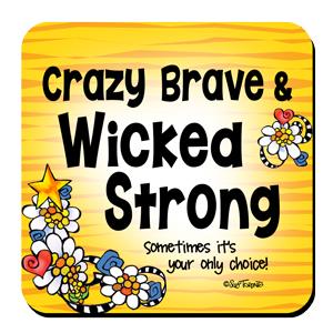 Crazy Brave (yellow) coaster