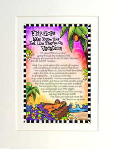 Vacation Toes Print (story on front) - Matted