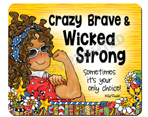 Crazy Brave (yellow) mouse pad