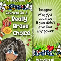 Courage Is A Really Brave Choice. Fear can't control you unless you let it – Bookmark