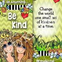 In a World Where You Can Be Anything… Be Kind. You'll never regret being too kind – Bookmark