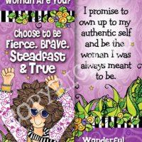 Choose to Be Fierce, Brave, Steadfast & True. I am powerful beyond measure – Bookmark