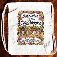 Gathering of the Goddesses (3-6 Girl options) – 15″ x 13″ Drawstring Backpack/Tote Bag