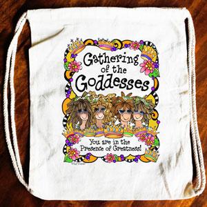 Gathering of the Goddesses Drawstring bag (4 girls)