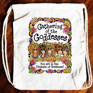 Gathering of the Goddesses Drawstring bag (5 girls)