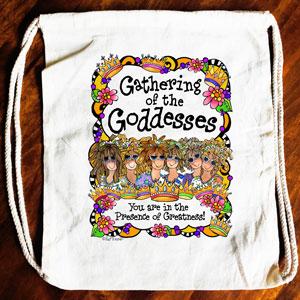Gathering of the Goddesses Drawstring bag (6 girls)