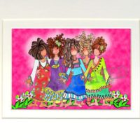 """We are Sisters (5) – 8 x 10 Matted """"Gifty"""" Art Print"""