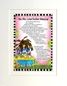 Rubber Stamping art print - matted