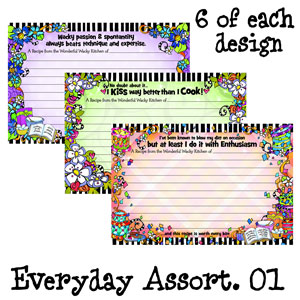 assorted pack 1 - recipe cards