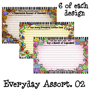 assorted pack 2 - recipe cards