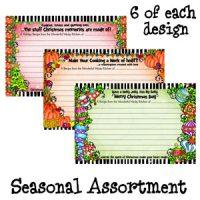 Seasonal Assortment (Christmas, Thanksgiving, Harvest Time) – Recipe Cards (pack of 18)