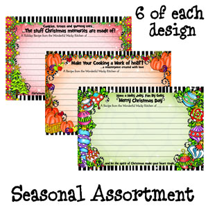 assorted pack 3 - recipe cards