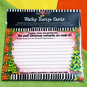 Christmas memories - recipe cards