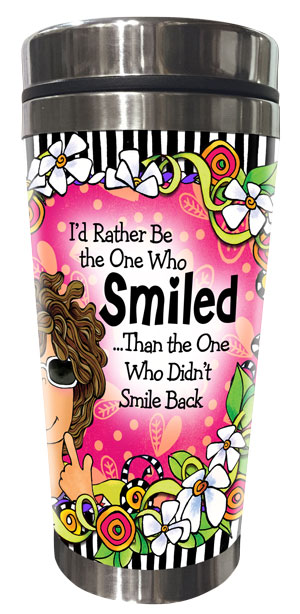 Smiled Stainless Steel Tumbler - FRONT