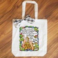 When Life Becomes a Roller Coaster Climb into the Front Seat, Throw Your Arms in the Air, & Enjoy the Ride! – 15″ x 14″ Tote Bag