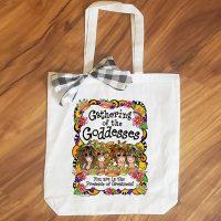 Gathering of the Goddesses (3-6 Girl options) – 15″ x 11″ Tote Bag