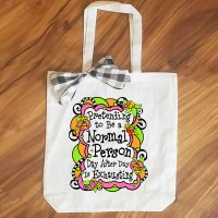 Pretending to Be a Normal Person Day After Day is Exhausting – 15″ x 14″ Tote Bag