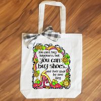 You can't buy happiness but you can buy shoes… and that's kinda the same thing – 15″ x 11″ Tote Bag