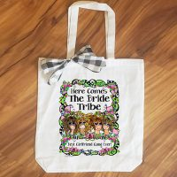 Bride Tribe (3-6 Girl options) – 15″ x 11″ Tote Bag