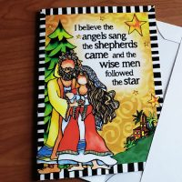 """I believe the angels sang, the shepherds came and the wise men followed the star (12 Pack) – (NEW for 2021) Christmas """"Wacky Bundle"""" Greeting Cards"""