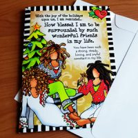 How blessed am I to be surrounded by such wonderful friends in my life – (NEW for 2021) Christmas Greeting Card