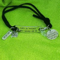 BELIEVE – Life is what you make of it – WORDS Bracelet w adjustable band