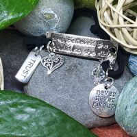 TRUST – She believed she could so she did – WORDS Bracelet w adjustable band