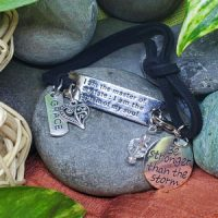 GRACE – I am the master of my fate; I am the captain of my soul – WORDS Bracelet w adjustable band