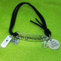 LOVE – Be{you}tiful – WORDS Bracelet w adjustable band