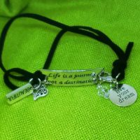 BEAUTIFUL – Life is a journey not a destination – WORDS Bracelet w adjustable band