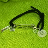 """WARRIOR """"spirit"""" – You were given this life because you are strong enough to live it – WORDS Bracelet w adjustable band"""