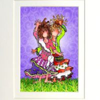 """She Who is My Best Friend (Vintage) – 8 x 10 Matted """"Gifty"""" Art Print"""