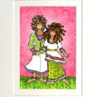 """She Who is My Granddaughter (Vintage) – 8 x 10 Matted """"Gifty"""" Art Print"""