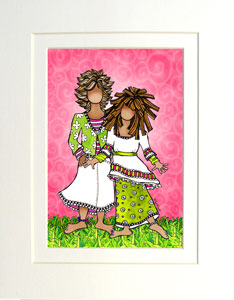 My Granddaughter - matted print