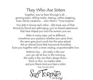 They who are sisters VINTAGE - BACK