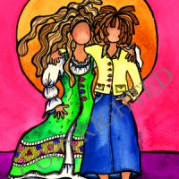 """They Who Are Sisters (Vintage) – 8 x 10 Matted """"Gifty"""" Art Print – Signed and Autographed by Suzy Toronto"""