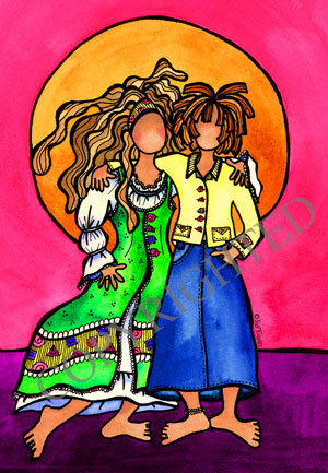 They who are sisters VINTAGE matted print