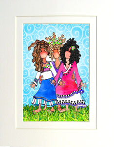 Thankful Daughters - matted print